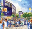 Artists impression after the demolition of the flyover